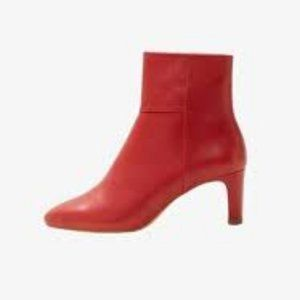 Mango red letter boots